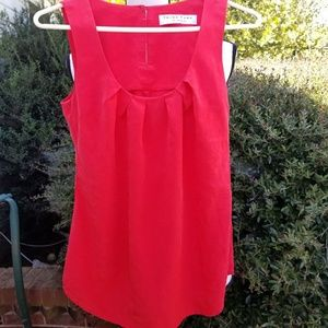 Red TRINA TURK silk sleeveless tank top
